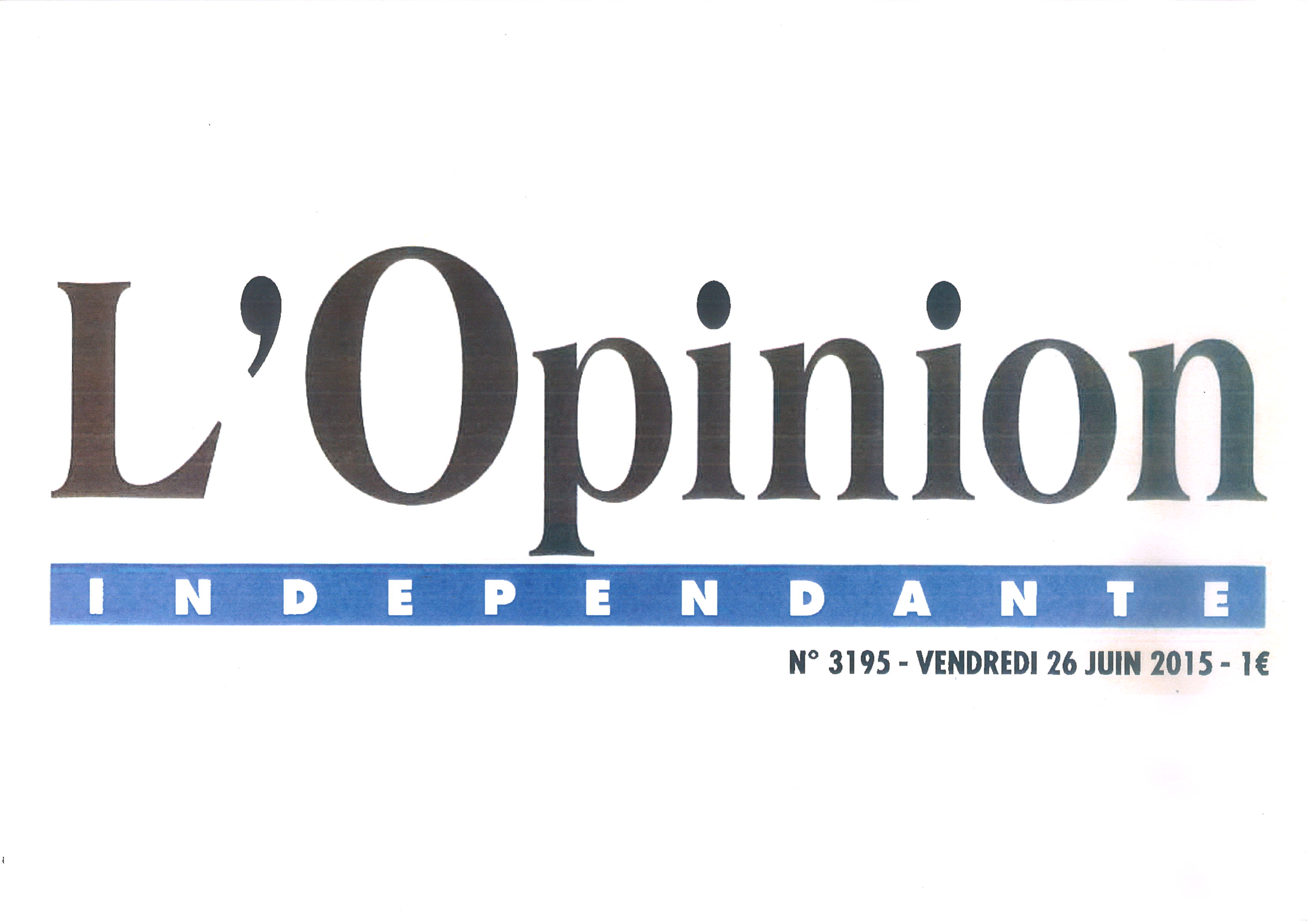 L'OPINION INDEPENDANTE